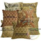 Wd- Gold Light Gold Brown Gold Sand Cotton Pillow Case/Cushion Cover Custom Size