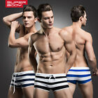 3Pcs Men's Sexy Swimming Trunks Boxer Briefs Swim Shorts Swimwear Sz M-2XL# YM05