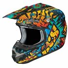 CASCO MOTO motocross IXS HX 261 Emotion S/M/L/XL in policarbonato nero/blu/giall