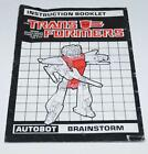 Brainstorm Action Figure Robot Instruction Manual 1987 Hasbro G1 Transformers - Time Remaining: 7 days 18 hours 57 minutes 19 seconds