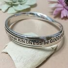 BL2043 Graceful Garden Antique Silver Tone Inspiration Mobius Bangle Bracelet