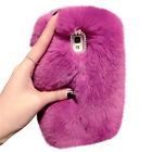 Luxury Bling Warm Soft Beaver Rabbit Fur Hair sluffy Back Case Cover For iPhone