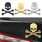 3D Metal Skull Emblem Badge Logo Sticker For Car Auto Motorcycle Tank Decoration