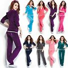Women Sportswear Velour Hoodie+Pant Tracksuit Yoga Running Suit Set 13 Colors