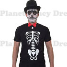 MENS DAY OF THE DEAD HALLOWEEN SKELETON SENOR FANCY DRESS COSTUME S-XL