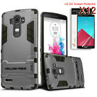 Hybrid Rugged Impact Armor Hard Stand Case Cover&HD Clear Screen Film F LG G4/G5