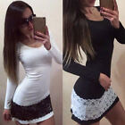 Sexy Women Bandage Bodycon Long Sleeve Evening Sexy Party Cocktail Mini Dress