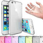 For Apple iPhone Case Transparent Crystal Clear Gel TPU Soft Cover Jelly Skin