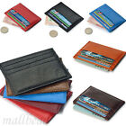 Stylish Men's Womens PU Leather Small Id Credit Card Wallet Holder Pocket Case