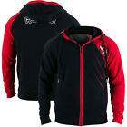 Hayabusa Recast Series Athletic Fit Zip-Up Hoodie - Black/Red -hooded boxing mma