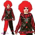 Boys Girls Scary Evil Clown Horror Circus Zombie Halloween Fancy Dress Costume