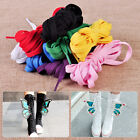 "133"" PUNK Rock long Casual Canvas Shoe Laces knee high Boots Shoelaces string"