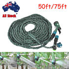 Deluxe 50FT/75FT Expandable Flexible Garden Water Hose Pipe w/ Spray Nozzle Gun