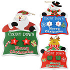 Wooden Days 'til Christmas Countdown Advent Calendar Decoration Wall Hanging New