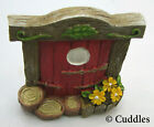 Fairy Garden Door Red  Mini Figurine Ganz Outdoor Fantasy Plant Yellow Flower N