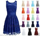 New Mini Lace Evening Party Cocktail Bridesmaid Formal Prom Gown Dress Size 6-22
