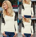 Fashion Women Casual Long Sleeve Knitted Pullover Loose Sweater and black lace