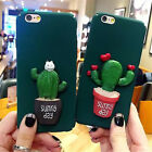 Hot Sale Cute 3D Cactus Cacti Kitty PC Hard Case Cover For iPhone6 6S 7 Plus