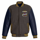 2016 NBA Cleveland Cavaliers Final Champions Jacket 2-Tone Charcoal Navy NEW