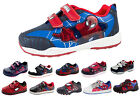 Marvel Spiderman Velcro Sports Trainers Hi Tops Ankle Boots Boys Shoes Size UK