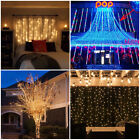 3M*3M 300 LED Curtain Light Fairy String Icicle Wedding Party Xmas Home Decora