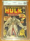 INCREDIBLE HULK #1 EGC GRADED CONSERVED ( 2.5 ) CREAM TO OFF/W PGS EURO GRADER