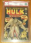 INCREDIBLE HULK #1 EGC GRADED RESTORED ( 6.5 ) CREAM PAGES EURO GRADER