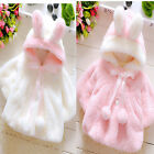 Fashion Girl Kids Winter Warm Soft Fur Coat Cloak Jacket Thick Thick Clothes New