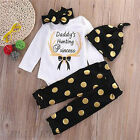 Casual Newborn Baby Boys Girls Christmas Clothes Tops Romper Pants Hat Outfits