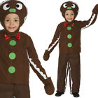 CHILDRENS CHRISTMAS LITTLE GINGER BREAD MAN FANCY DRESS COSTUME