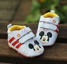 Infant Baby Boy Girl White Mickey Mouse Shoes Size Newborn to 18 Months