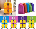 Adjustable Luggage Suitcase Cross Strap Baggage Belt with Secure Code Lock New