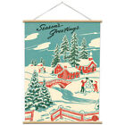 Seasons Greetings Poster with Hanger Kit Vintage Style Holiday Ephemera 20 x 28