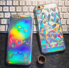 Holographic Diamond Bling Laser Melting Rainbow Colors Print Case For iPhone 5 6