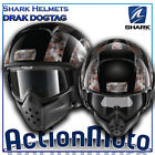 Casco Helmet Jet SHARK RAW DRAK DOGTAG grafica moto scooter