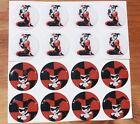 """HARLEY QUINN Epoxy Stickers 1"""" 3/4"""" 1/2"""" 20mm round for Craft or Jewelry Making"""