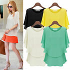 Elegant Women Short Sleeve Loose Summer Sunscreen Shirt Casual Tops Blouse L-5XL