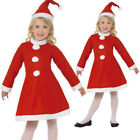 CHILDRENS KIDS GIRLS CHILD MISS SANTA CLAUS CHRISTMAS FANCY DRESS COSTUME