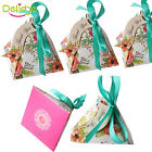 10PC Triangle Cake Candy Chocolate Box Boxes Wedding Party Favor Gift