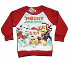 Official Paw Patrol Red Childrens Christmas Xmas Jumper Chase Marshall Rubble