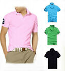 New Arrival Men's Sports Short Sleeve Casual Polo Shirt T-shirts Tops