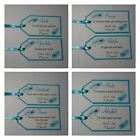 PEACOCK FEATHER wedding : GROOM SURVIVAL KIT TAG SET, 60 colours, personalised