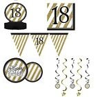 BLACK & GOLD HAPPY BIRTHDAY AGE 18/18TH BDAY PARTY ITEMS Decorations Tableware