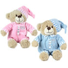 My First Teddy Birth Baby Bear Cuddly Plush Soft Toy Boy Girl Blue Pink Comfort