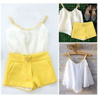 2pcs Toddler Kids Baby Girl Chiffon Outfit T-Shirt Tops+Shorts Clothes Pants Set