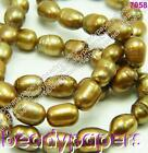 Grade A Freshwater Rice Pearl Beads 4 mm - 5 mm Gold Brown 30 - 50 7058