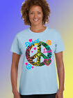 NEW HIPPY PEACE TSHIRT - Animal Inspired Peace Fluoro