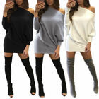Women  Sexy Sloping Batwing Lone Sleeve Clubwear Party Cocktail Mini Dresss
