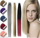 20''-26'' Seamless Tape In Skin Weft Remy Human Hair Extensions Dip Dye Ombre