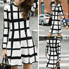 Women Sexy Bodycon Evening Cocktail Party Long Sleeve Lattice Mini Dress